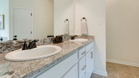 Bathroom in Model Home - DSLD Homes - Island Trace in Ponchatoula