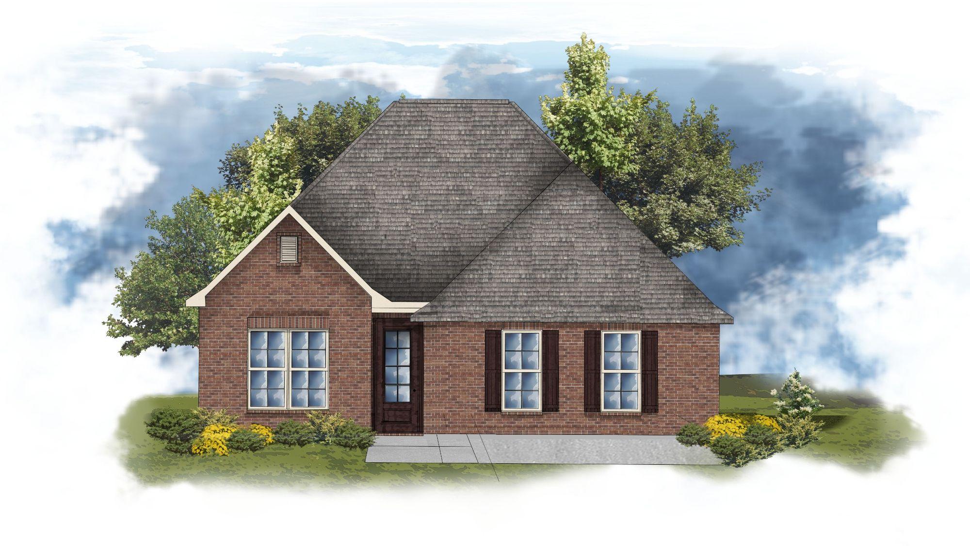 DSLD Homes - Domenico Open Floorplan Elevation Image