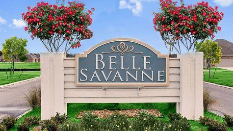 Front Entrance Sign - Belle Savanne - DSLD Homes Lake Charles