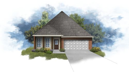 Oakstone IV B - Front Elevation - DSLD Homes