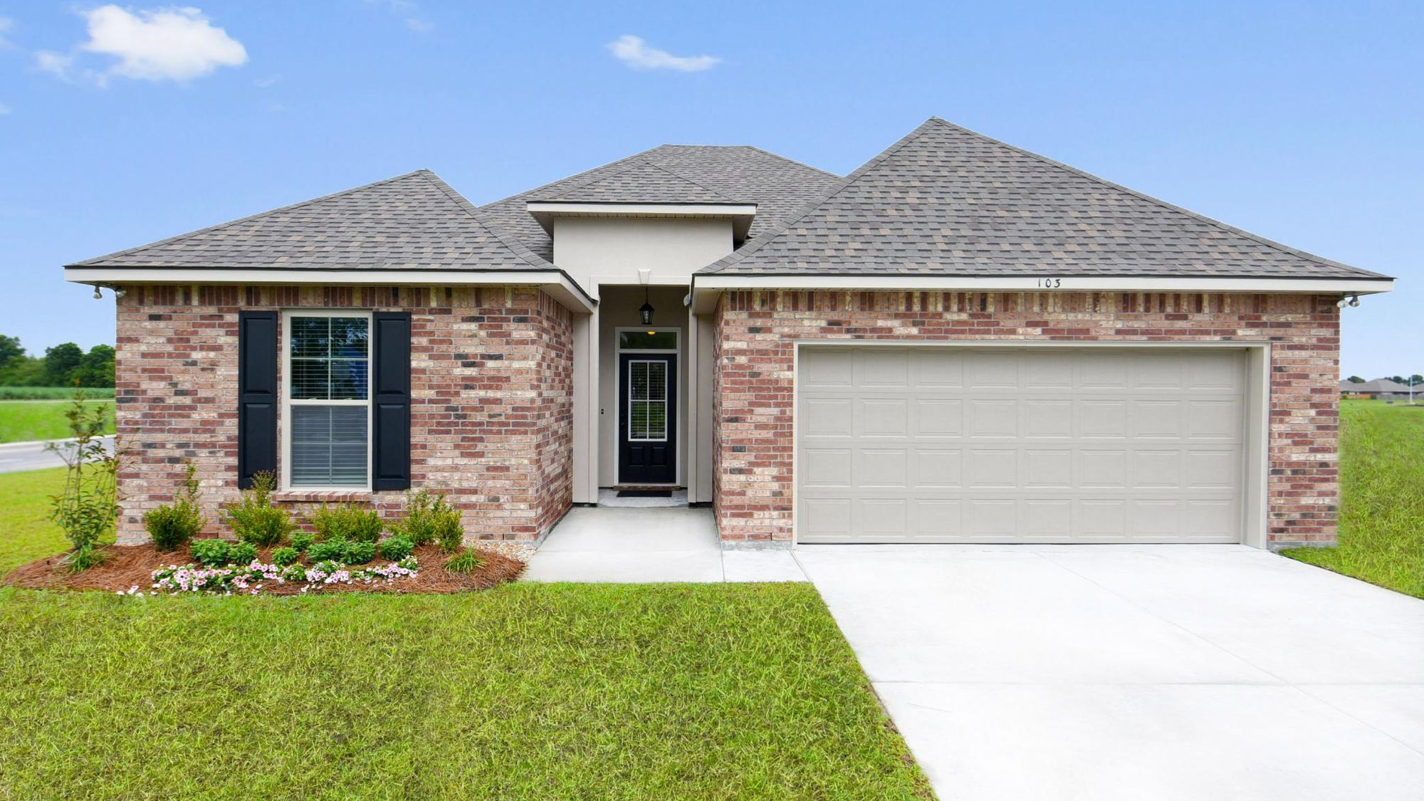 Front of Model Home - Summerview - DSLD Homes Lafayette