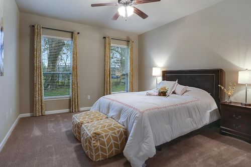 Moss Bluff - Model Home Master Bedroom - DSLD Homes - Rayleigh II A - Lafayette, LA