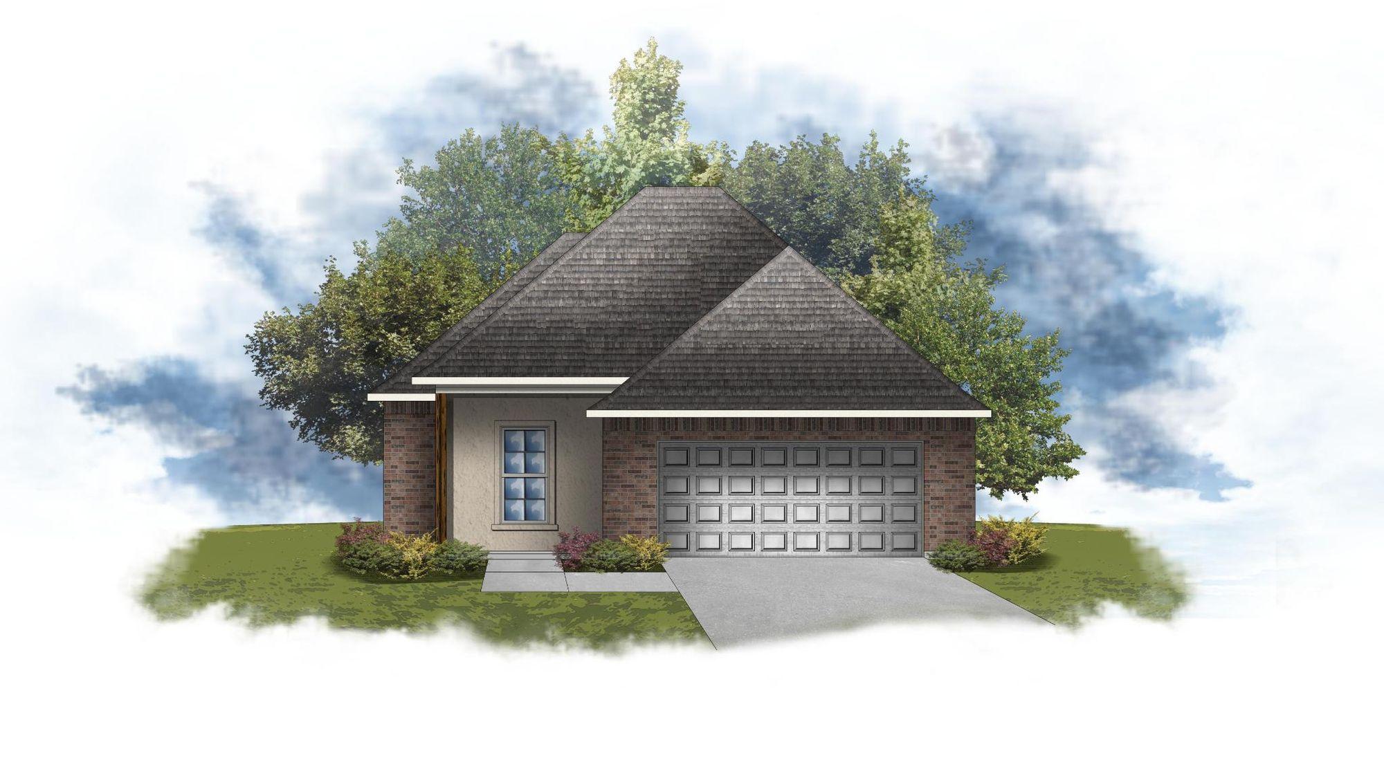 Derose III B - Front Elevation - DSLD Homes