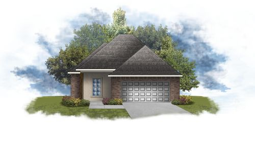 Derose III B - Front Elevation - DSLD Homes