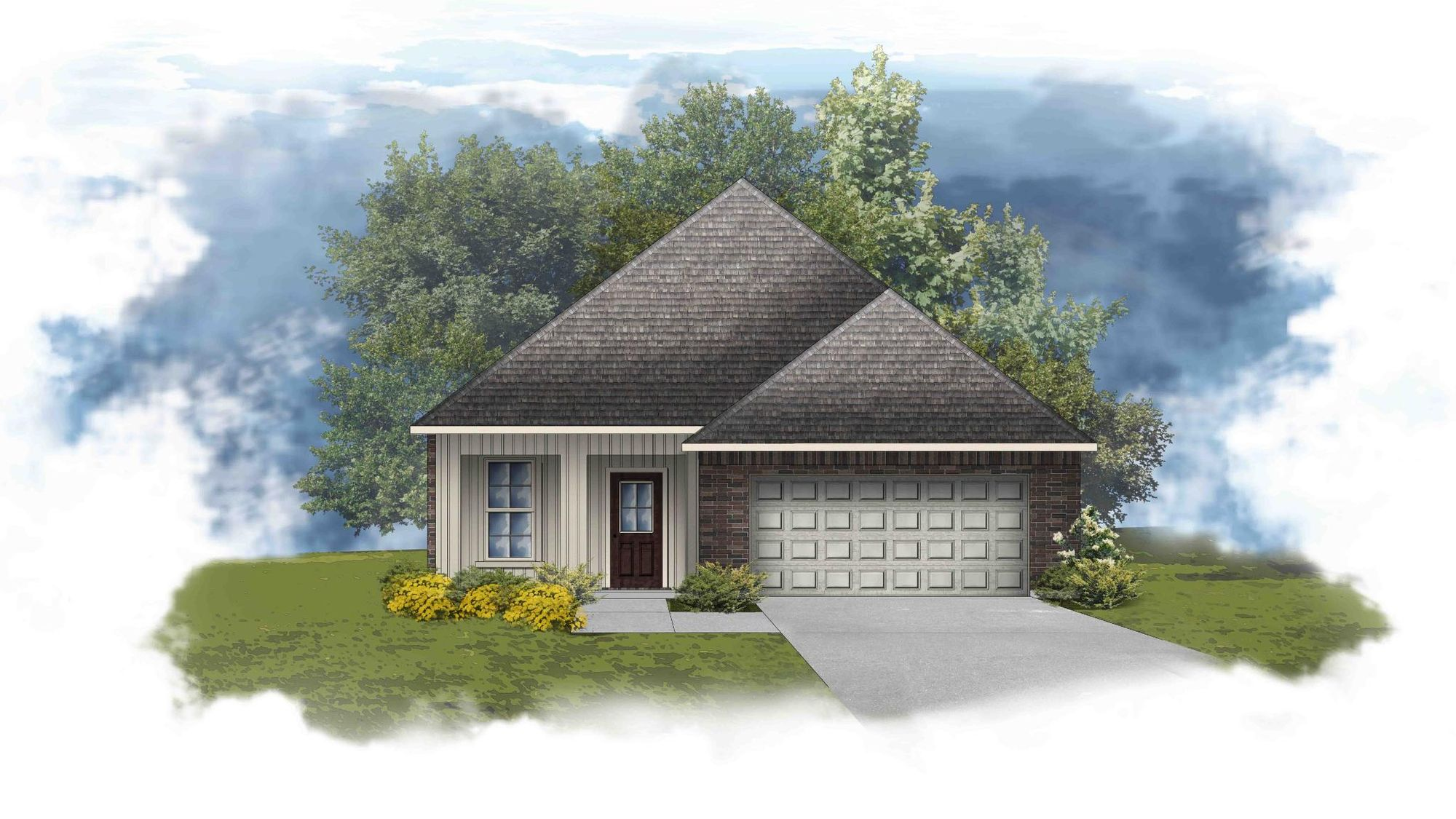Fletcher IV G - Front Elevation - DSLD Homes