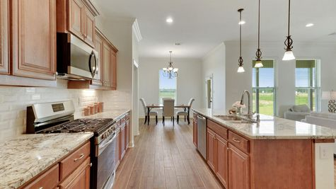 The Reserve at Conway Model Home Pictures- Kitchen with stainless appliances