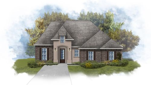 Lacombe III A - Front Elevation - DSLD Homes