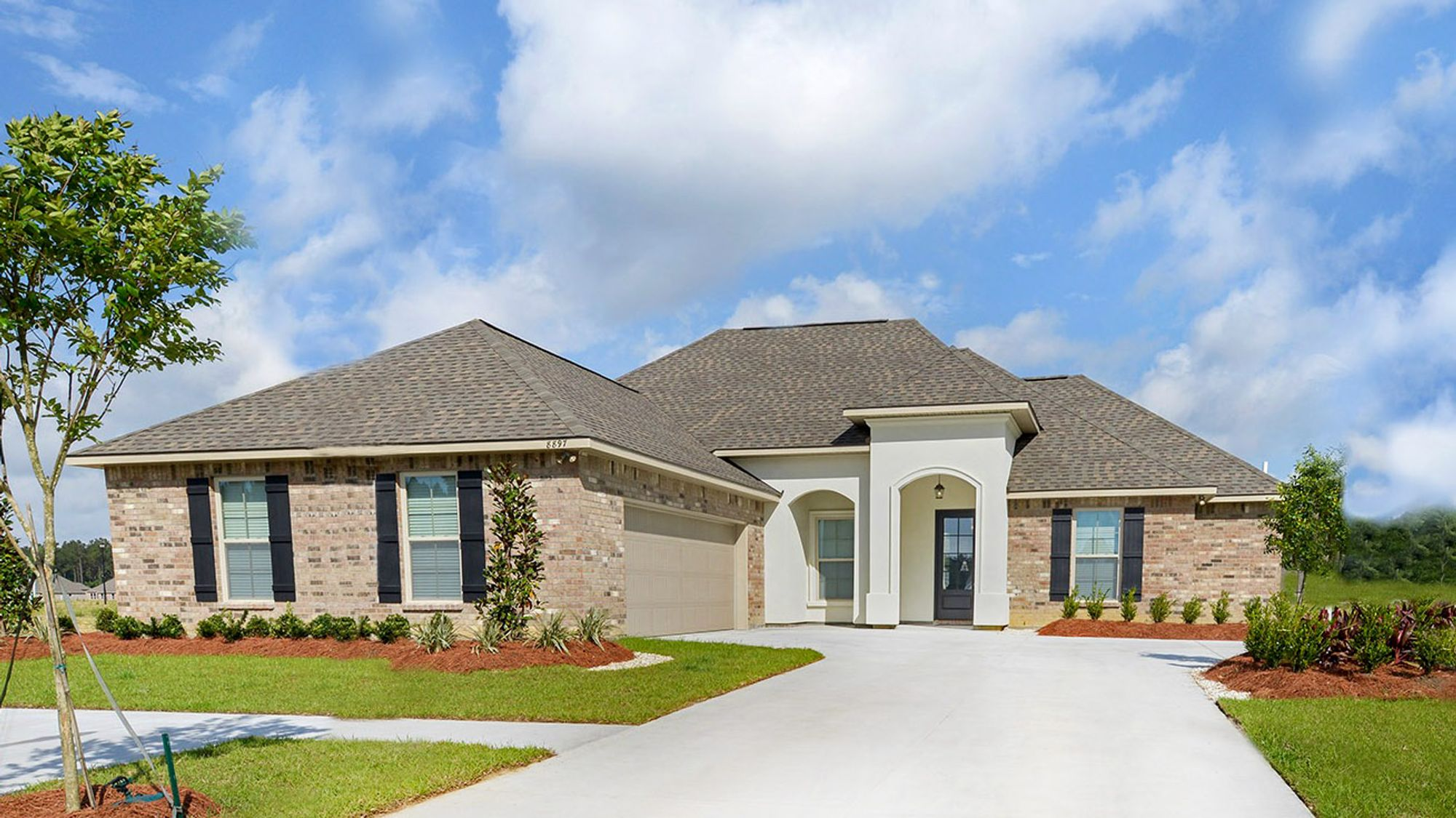 Front of the Model Home - Nickens Lake- DSLD Homes Denham Springs