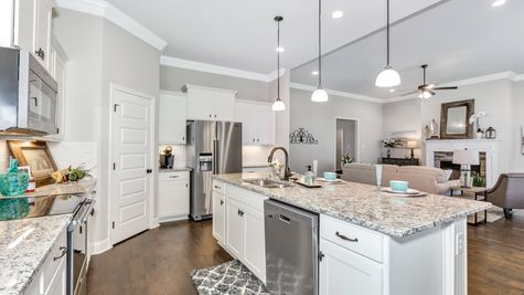 Meadow Crest Model Home Kitchen - Collinswood II G - DSLD Homes - Hazel Green, AL