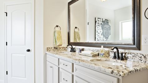 Large Master Bathroom with Appliances  New Construction Homes- DSLD Homes Pelican Crossing Gonzales