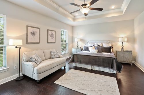 The Waters - Model Home Master Bedroom - DSLD Homes - Renoir III B - Gulf Breeze, FL