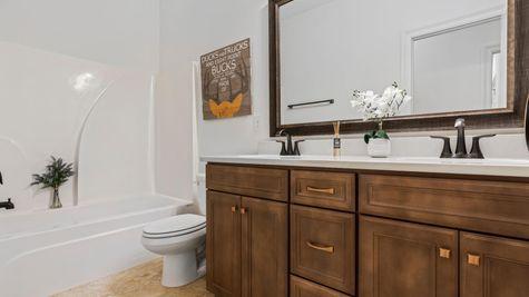 The Preserve at Gray's Creek - Harmand II A - DSLD Homes - Model Home Hall Bathroom