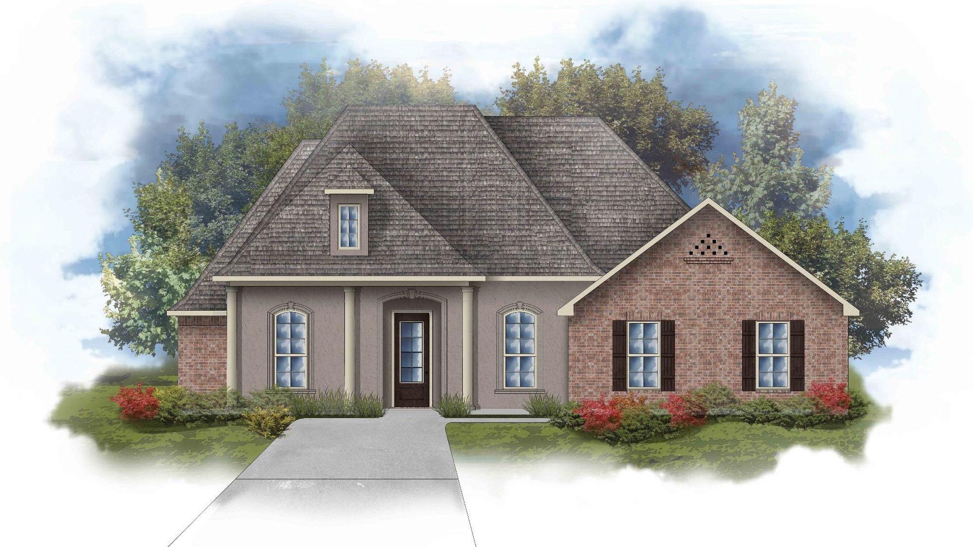 Renoir III D Open Floorplan Elevation Image - DSLD Homes