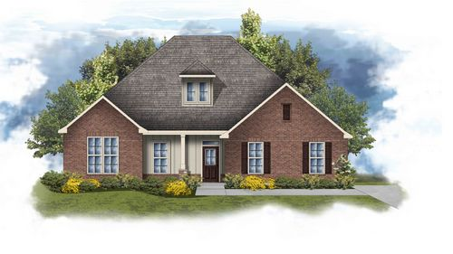 Conway II G Stone - Briarpatch elevation floor plan - DSLD Homes