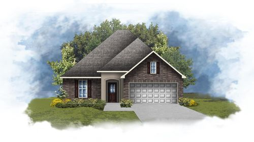 Raymond III A - Front Elevation - DSLD Homes