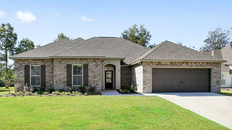 Front Elevation of Model Home - Nature's Trail - DSLD Homes Biloxi