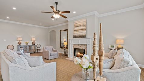 The Estates at Silver Hill Community - DSLD Homes - Sansa II A - Model Home Living Room
