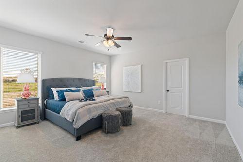 Acadian Meadows - Model Home Master Bedroom - Ripley IV G - Lafayette, LA
