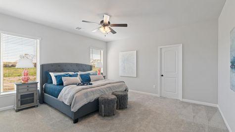 Acadian Meadows Model Master Bedroom - DSLD Homes - Lafayette, LA