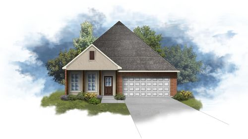 Oakstone IV A - Front Elevation - DSLD Homes