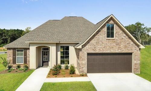 Castine Pointe - Model Home Exterior - DSLD Homes - Rose IV A - Long Beach, MS