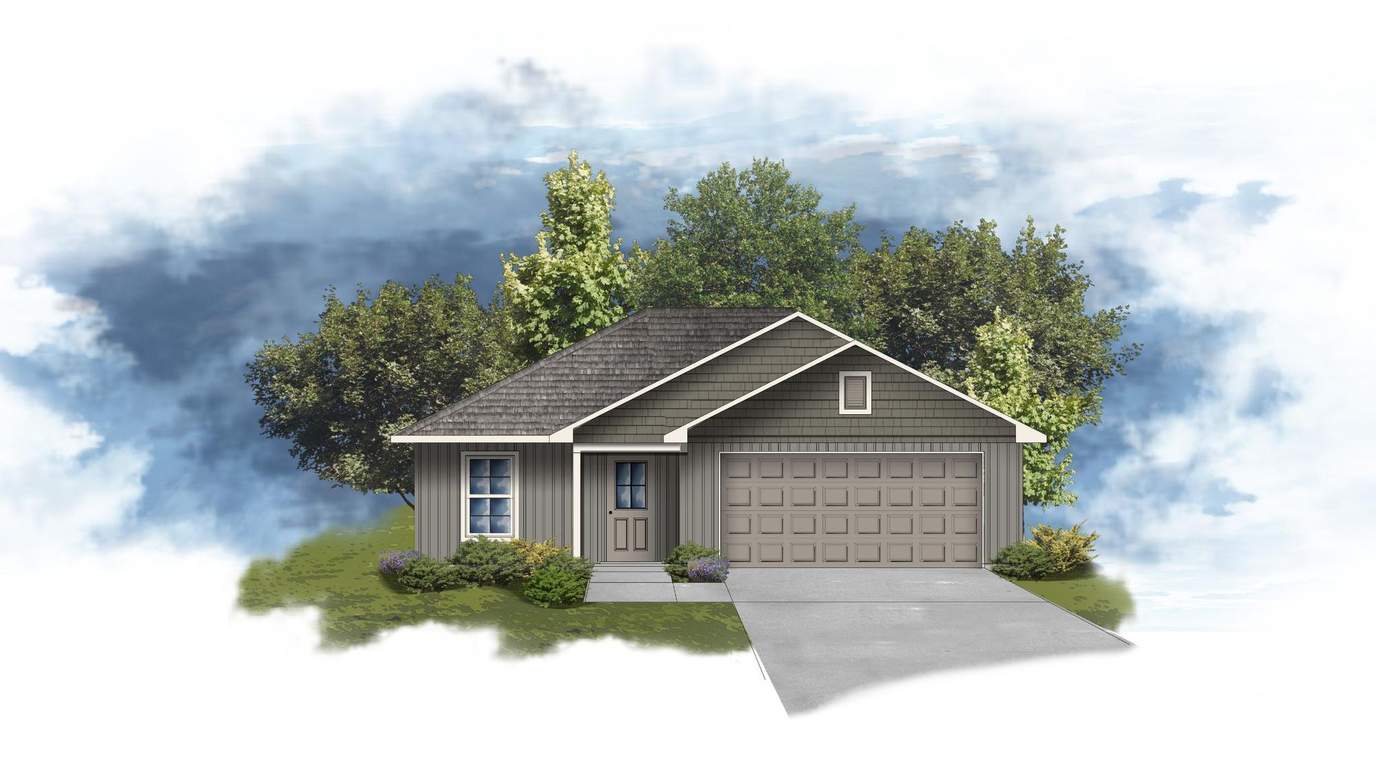 DSLD Homes - Dunn  IIII G Floorplan  Elevation - Open Floorplan