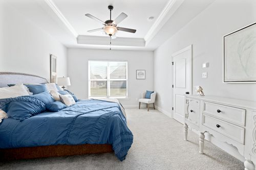 The Cove at Morganfield - Model Home Master Bedroom - Ketty II A - Lake Charles, LA