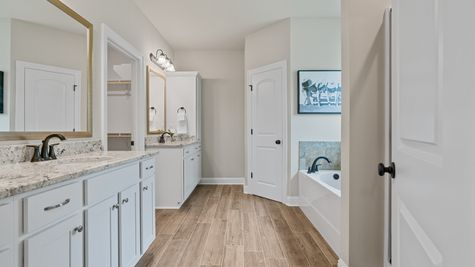 The Estates at Silver Hill Community - DSLD Homes - Sansa II A - Model Home Master Bathroom