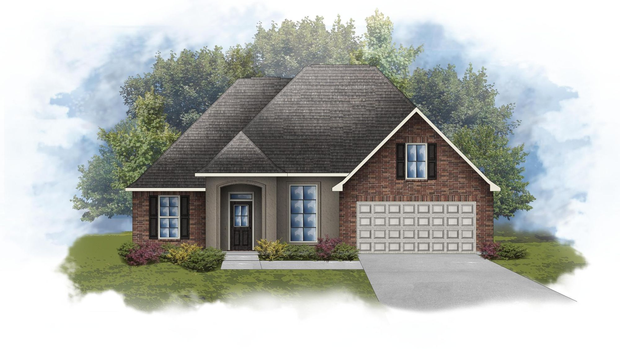 Reims IV A - Front Elevation - DSLD Homes