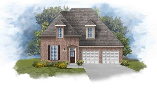 Versailles III A - Front Elevation - DSLD Homes