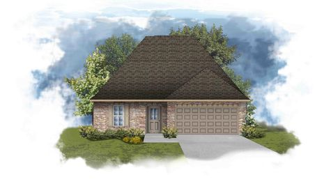Narbonne III B Open Floorplan Elevation - Painted Brick - DSLD Homes