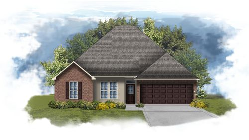 Mimosa II A - Front Elevation - DSLD Homes