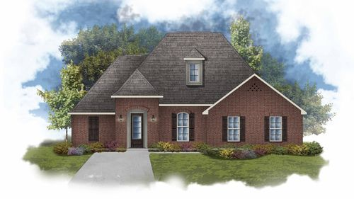 Claudet II B - Front Elevation - DSLD Homes