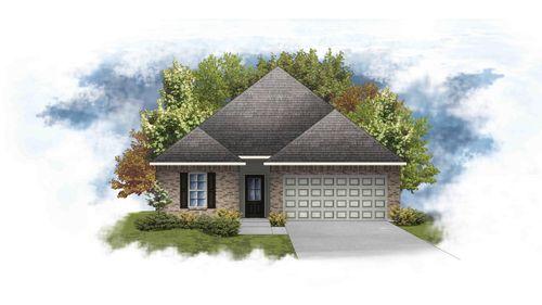 Preston IV A - Front Elevation - DSLD Homes