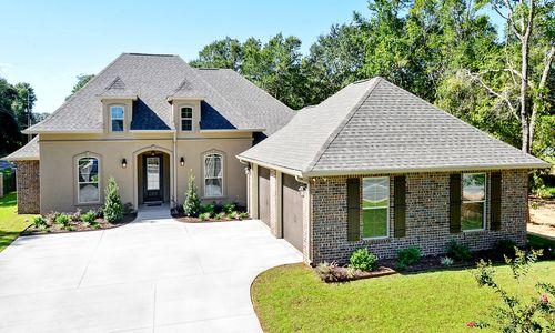 Hawthorne Grove - Model Home Exterior - DSLD Homes - Renoir III A - Pensacola, FL