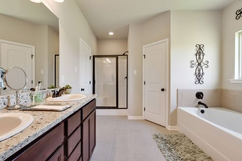 St. David's Cove - Model Home Master Bathroom - DSLD Homes - Shefford IV A - Youngsville, LA