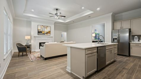 Living Room and Kitchen - Talla Pointe - DSLD Homes Ocean Springs