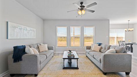 Acadian Meadows Model Home Living Room - DSLD Homes - Lafayette, LA