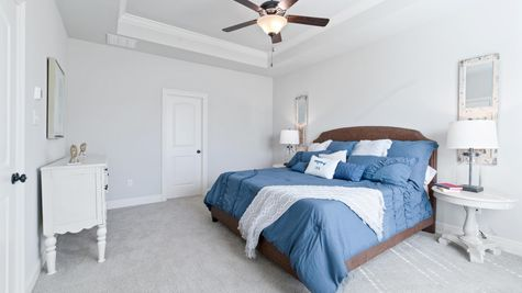 Model Home Master Bedroom - DSLD Homes in Lake Charles - The Cove at Morganfield