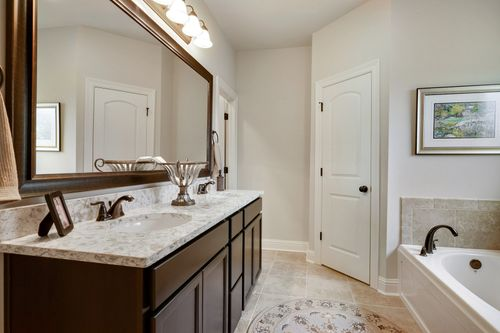 Woodland Manor - Model Home Master Bathroom- DSLD Homes - Reims IV C - Gonzales, LA