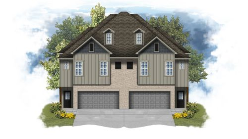 The Cottages at University Villas - Anthony I A Elevation Rendering - DSLD Homes - Baton Rouge, Louisiana