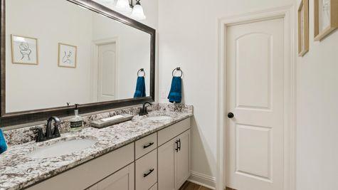 DSLD Homes - Ambassador Gardens - Klein II B - Lafayette, LA - Model Home Guest Bathroom