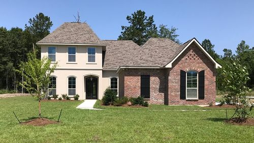 Front View - Bewick II A Elevation - Spring Lakes Community - DSLD Homes