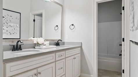 Model Home Guest Bathroom - DSLD Homes in Lake Charles - The Cove at Morganfield