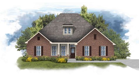 Castleton II A - Elevation - Open floor plan