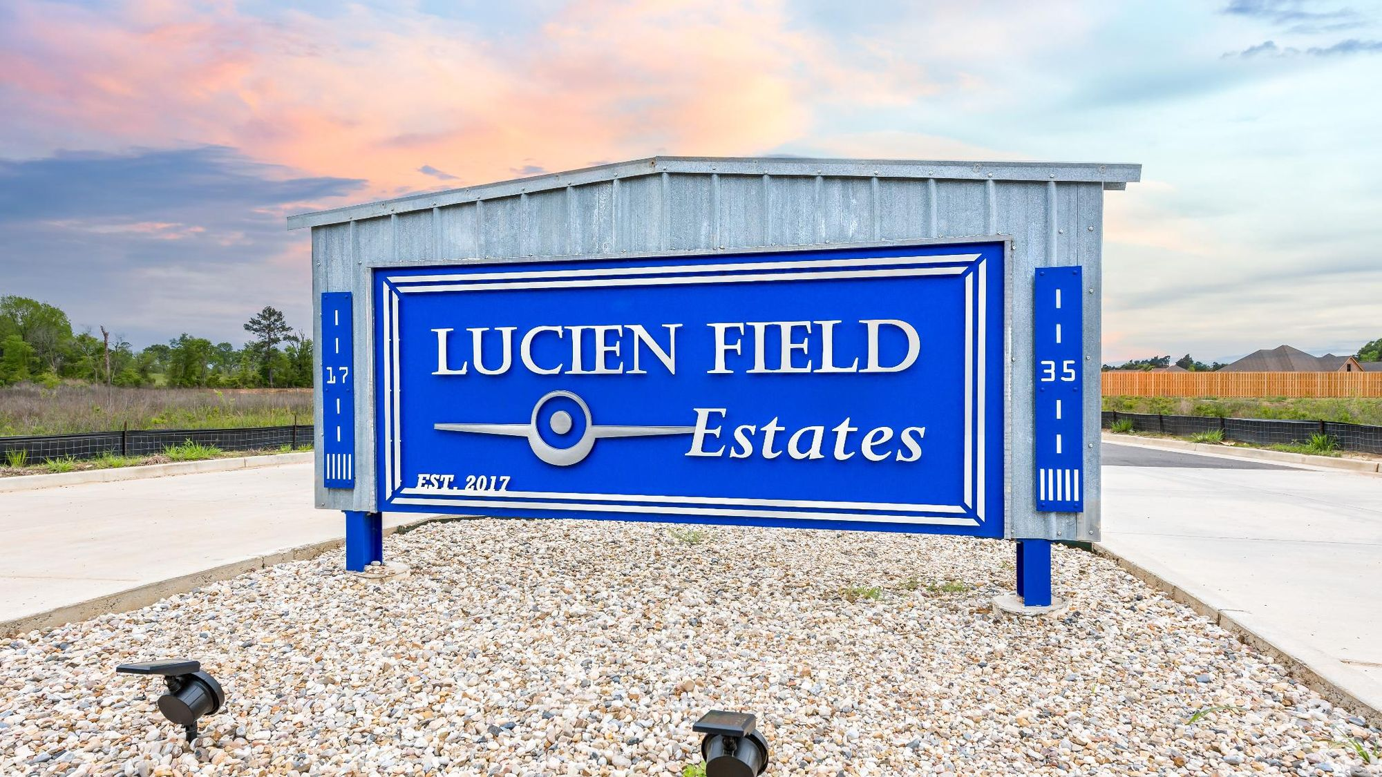 Front Entrance Sign - Lucien  Estates - DSLD Homes Shreveport