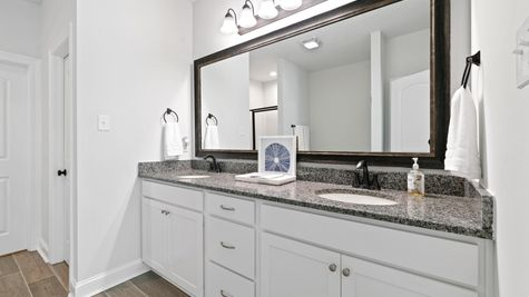 Model Home Master Bathroom- Talon Estates - Broussard, Louisiana - DSLD Homes