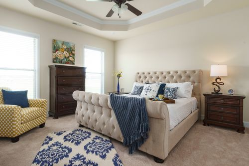 Plantation Park - Model Home Master Bedroom - DSLD Homes - Tompskin III B - Harvest, AL