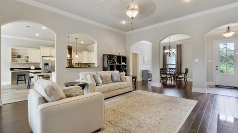 Living Room with Decor - Northern Oaks - DSLD Homes Pass Christian