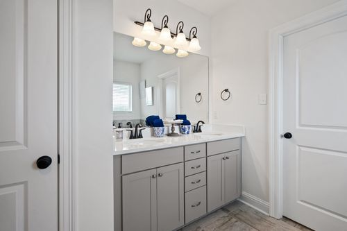Fairview Gardens Model Home Master Bathroom - Cezanne III A - Zachary, LA